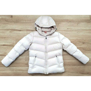 Nike Womens Puffer Down Off White Jacket Large